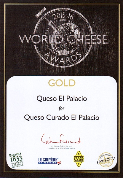 Medalla de oro 2015 Queso curado El Palacio