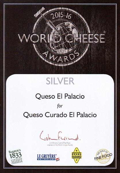 Medalla de plata 2015 Queso curado El Palacio